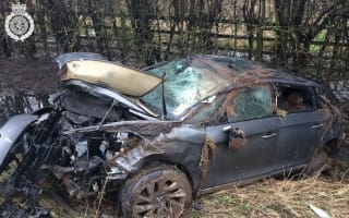 Driver escapes horror smash with minor injuries