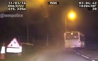 Police footage shows stolen bus joyride