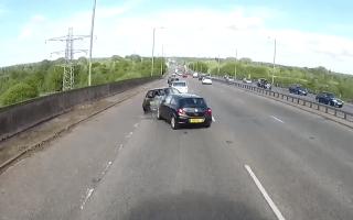 Horrifying car crash caught on camera