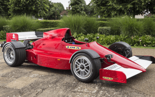 Lola F1 car modified for road use goes up for sale