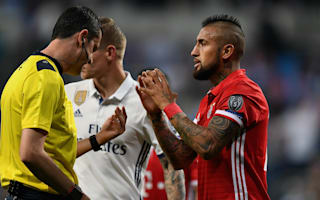 Vidal says referee knocked Bayern out of Champions League