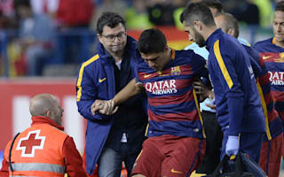 Suarez, Barca unsure on extent of injury