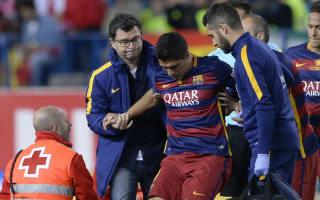 Suarez, Barca unsure on extent of injury