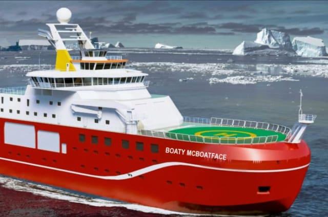 Barquito de Carabarco es el nombre ganador para el troleado buque británico