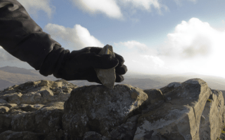 Artist accused of vandalism after taking top inch of England's tallest mountain