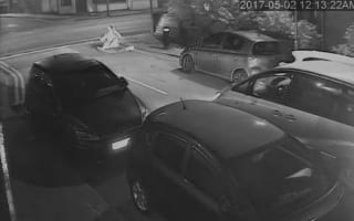 Pedestrian inches from death after street race goes wrong