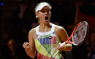 Kerber survives Stuttgart scare, Muguruza races through