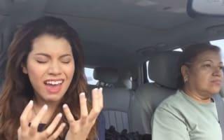 Video: Poker faced mum ignores car-dancing daughter