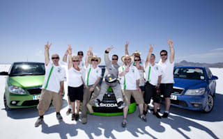 Skoda hits 214mph at Bonneville