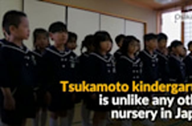Japanese kindergarten brings back prewar values