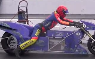 Video: Electric drag bike does 0-400 in 6.9 seconds