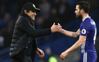 Conte lauds Chelsea's milestone man Fabregas