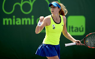 Cornet returns with a win, Bouchard knocked out in Miami