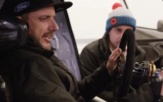 Ford Performance release film of Ken Block testing WRX car