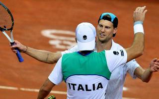 Italy, France reach Davis Cup quarter-finals