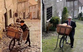 Hovis boy recreates iconic TV ad