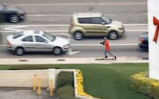Video: Car thief attempts to escape - by skateboard