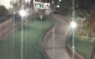 Disneyland surveillance catches ghost hanging around after closing
