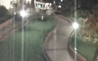 Disneyland surveillance catches ghost hanging around after closing