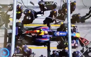 Video: F1 cameraman floored by runaway wheel