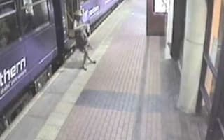 'Drunk' woman falling under train video released as Christmas warning