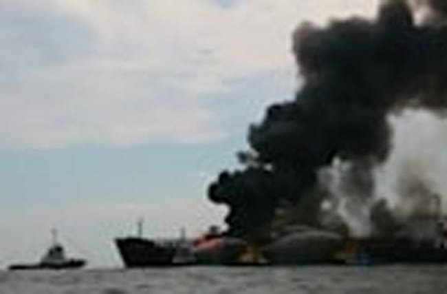 Fire breaks out on Pemex tanker in Gulf of Mexico, crew safe
