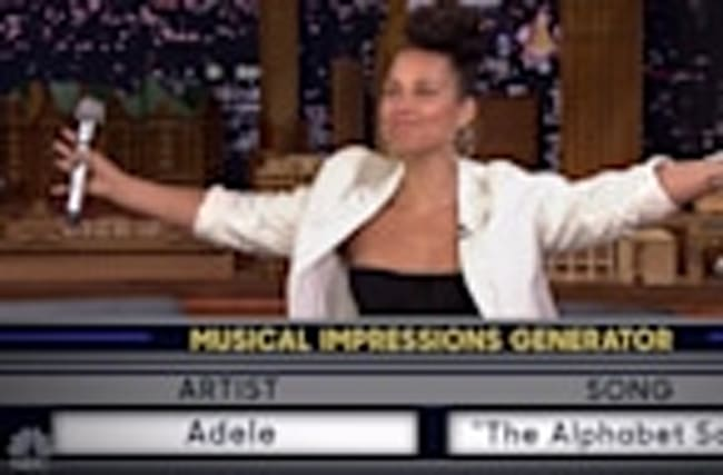 Alicia Keys Slays Impressions of Adele & Gwen Stefani on the Tonight Show