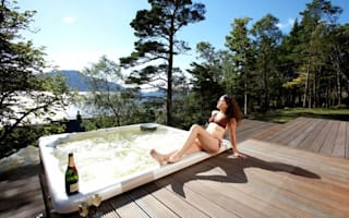 Photos: Remote holiday home with 'best hot tub in Scotland'