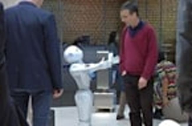 Pepper the hospitality robot at your service