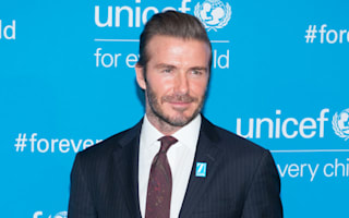 David Beckham turns the Empire State Building blue for Unicef
