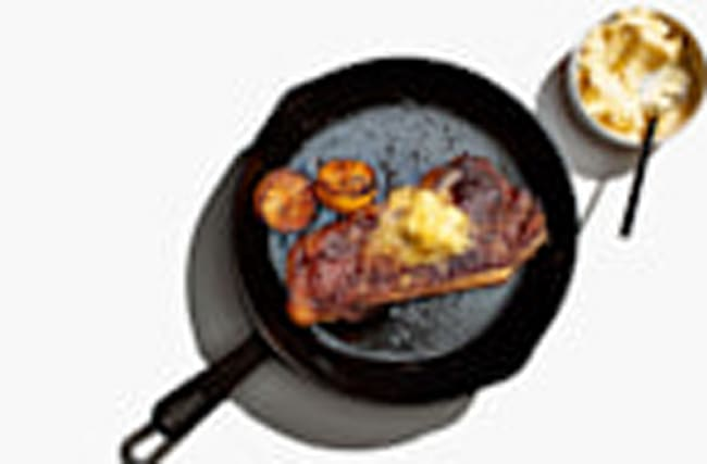 Steak With Lemon Butter and Jammy Lemon Halves