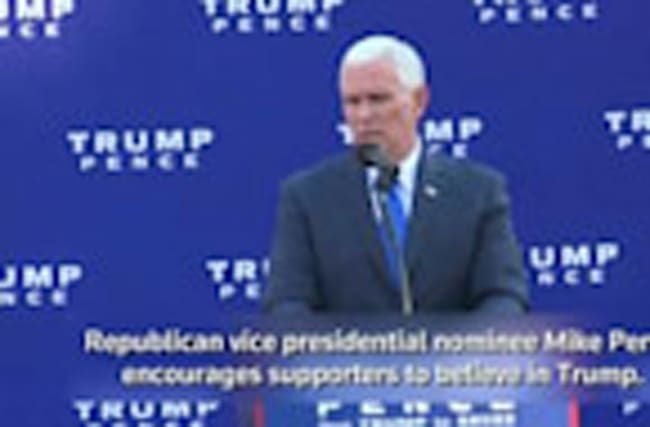 "Pence tells voters to ""have faith"""