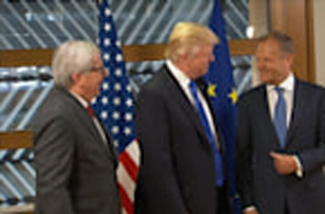 Trump meets EU chiefs in Brussels ahead of NATO summit