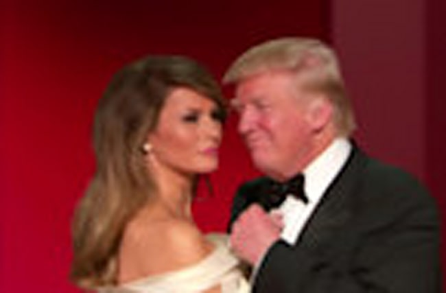 President Trump, Melania share 'first dance'