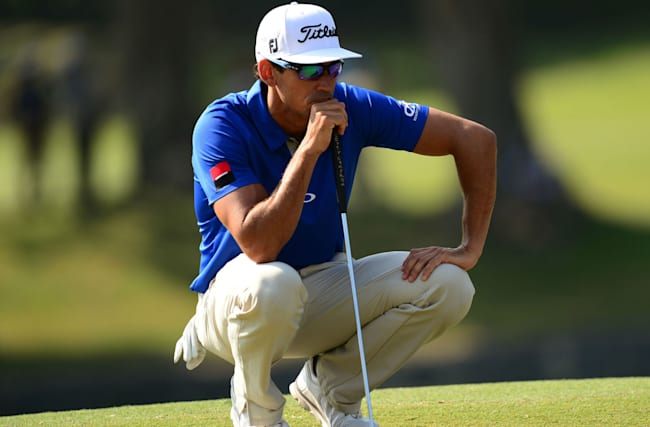 Rollercoaster day for Cabrera Bello allows Brazel to share Hong Kong lead