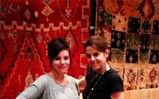 Lily Cooper shows off her bump on exotic shopping break in Marrakech