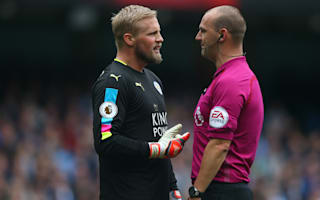 Schmeichel rages at inconsistent refs after Leicester lose at Manchester City