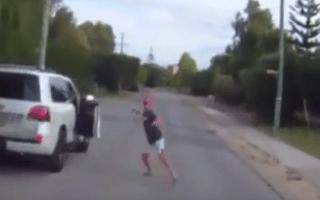 Knife-wielding motorist stops cyclist in road-rage attack