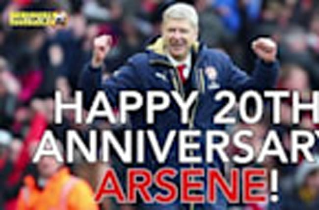 FanView - Arsenal Fans' Happy Anniversary Message to Arsene Wenger