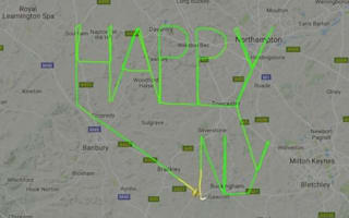Pilot delivers 'Happy New Year' message to the world