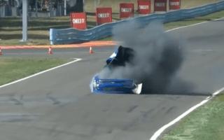 Racing car suddenly explodes during Nascar race