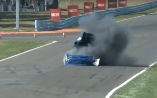 Racing car suddenly explodes during Nascar race