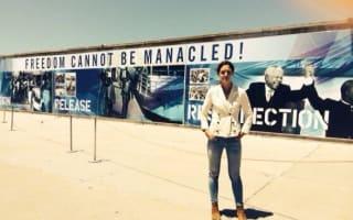 Katie Holmes tweets pics of Robben Island visit on Cape Town trip