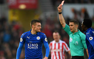Stoke City 2 Leicester City 2: Champions grab draw after Vardy red