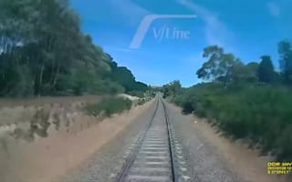 Man in terrifying near-miss with speeding train