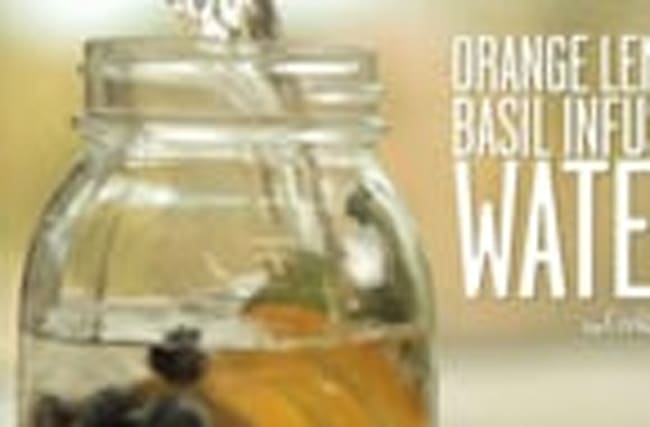 How to Make Orange, Blueberry, and Basil Infused Water