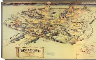 Walt Disney's hand-drawn map of Disneyland to be auctioned