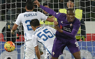 Fiorentina 2 Inter 1: Babacar scrambles late winner as three see red
