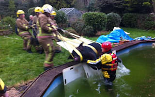 Pig rescued from swimming pool in Hampshire