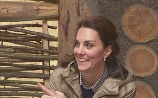 Duchess of Cambridge feeds lambs at children's city farm